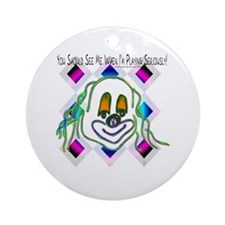 8 Ball Billiard Clown Round Ornament