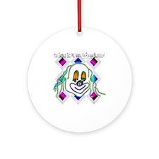 8 Ball Billiard Clown Round Ornament