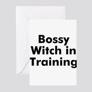 Bossy Witch in Training Greeting Cards (Pk of 10)