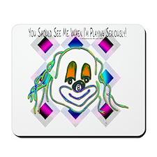 8 Ball Billiard Clown Mousepad