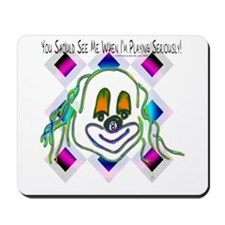 8 Ball Billiard Clown Mousepad