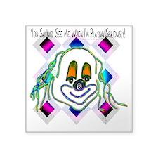 8 Ball Billiard Clown Square Sticker 3