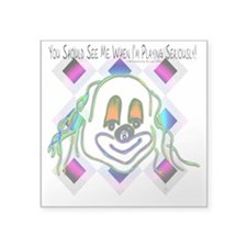 8 Ball Billiard Clown Square Sticker 3