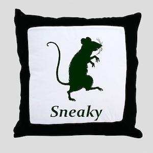 Sneaky Throw Pillow