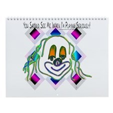 8 Ball Billiard Clown Wall Calendar