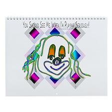 8 Ball Billiard Clown Wall Calendar
