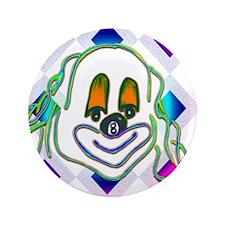 8 Ball Billiard Clown Button
