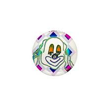 8 Ball Billiard Clown Mini Button