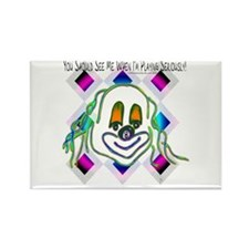 8 Ball Billiard Clown Rectangle Magnet