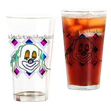 8 Ball Billiard Clown Drinking Glass