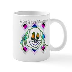 8 Ball Billiard Clown Mug