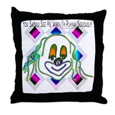 8 Ball Billiard Clown Throw Pillow