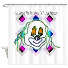 8 Ball Billiard Clown Shower Curtain