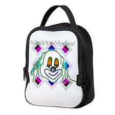 8 Ball Billiard Clown Neoprene Lunch Bag