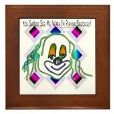 8 Ball Billiard Clown Framed Tile