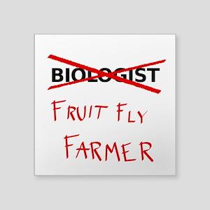 Biology Humor - Fruit Fly Farmer Sticker