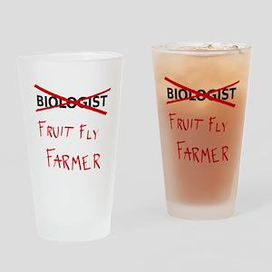 Biology Humor - Fruit Fly Farmer Drinking Glass