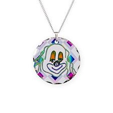 8 Ball Billiard Clown Necklace Circle Charm
