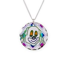 8 Ball Billiard Clown Necklace Circle Charm
