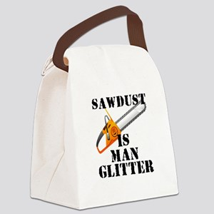 Sawdust Is Man Glitter Canvas Lunch Bag