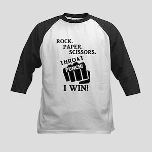 Rock, Paper, Scissors, Throat Punc Baseball Jersey