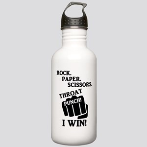 Rock, Paper, Scissors, Stainless Water Bottle 1.0L
