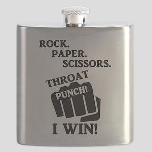Rock, Paper, Scissors, Throat Punch! I win! Flask