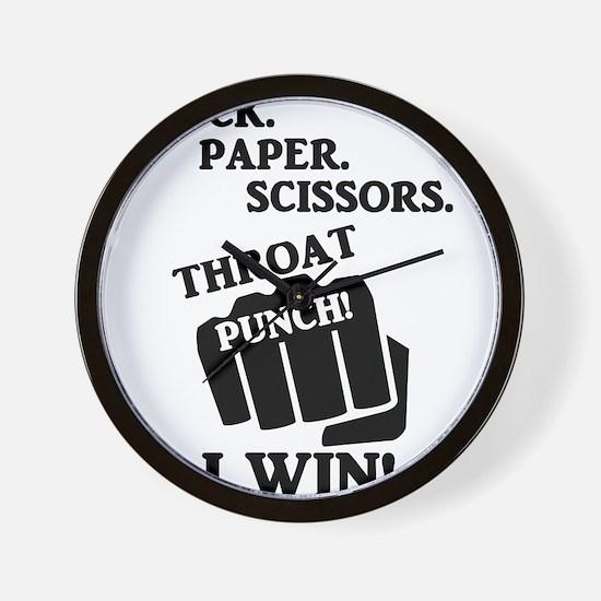 Rock, Paper, Scissors, Throat Punch! I Wall Clock