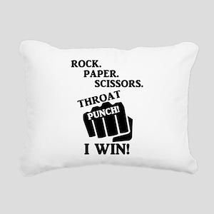 Rock, Paper, Scissors, T Rectangular Canvas Pillow
