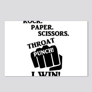 Rock, Paper, Scissors, Th Postcards (Package of 8)