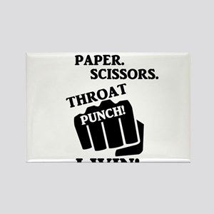 Rock, Paper, Scissors, Throat Punch! I win Magnets