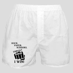 Rock, Paper, Scissors, Throat Punch! Boxer Shorts