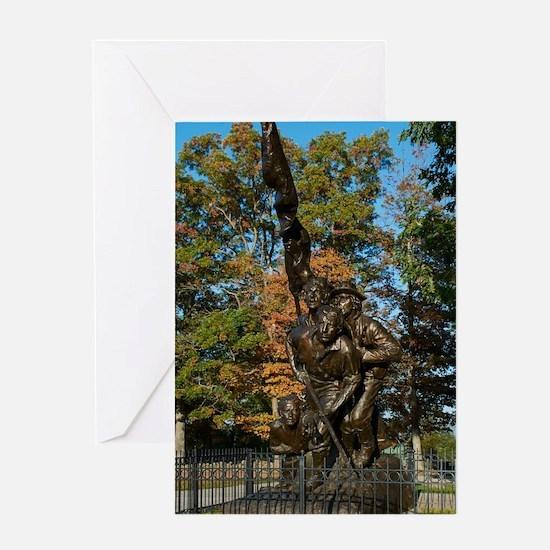 Gettysburg National Park - North Ca Greeting Cards