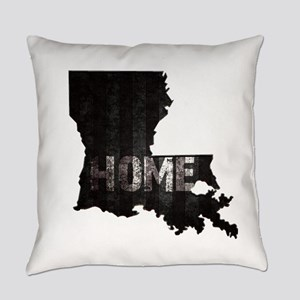 Louisiana Home Black and White Everyday Pillow