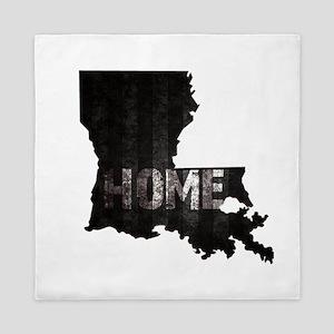 Louisiana Home Black and White Queen Duvet