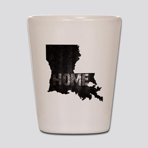 Louisiana Home Black and White Shot Glass