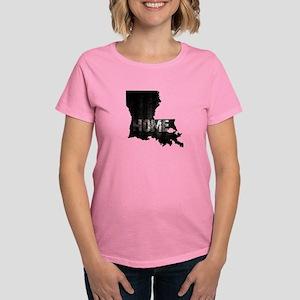 Louisiana Home Black and Whit Women's Dark T-Shirt