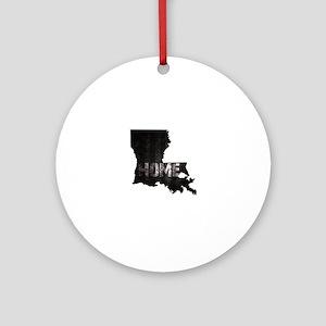 Louisiana Home Black and White Round Ornament