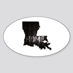 Louisiana Home Black and White Sticker (Oval)