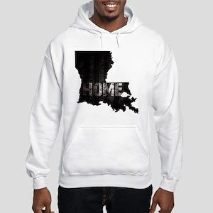 Louisiana Home Black and White Hooded Sweatshirt