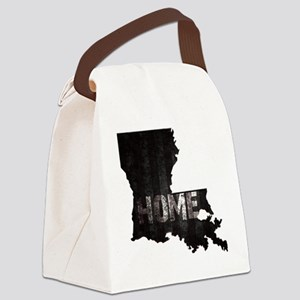 Louisiana Home Black and White Canvas Lunch Bag