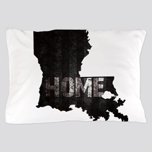Louisiana Home Black and White Pillow Case