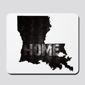 Louisiana Home Black and White Mousepad