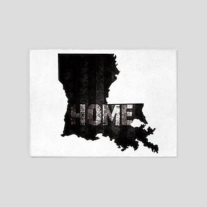 Louisiana Home Black and White 5'x7'Area Rug