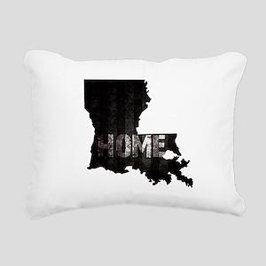 Louisiana Home Black and Rectangular Canvas Pillow