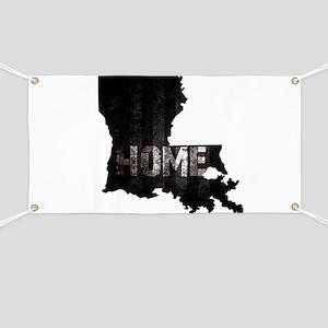 Louisiana Home Black and White Banner