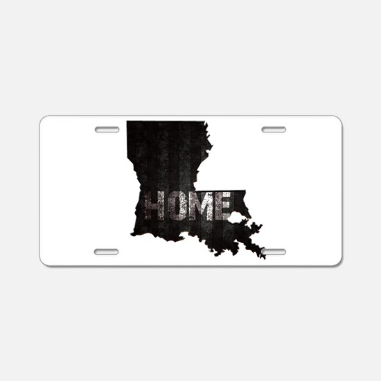 Louisiana Home Black and Wh Aluminum License Plate