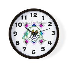 8 Ball Billiard Clown Wall Clock
