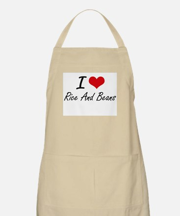 I love Rice And Beans Apron