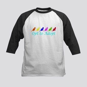 Rainbow Opt to Adopt Kids Baseball Jersey